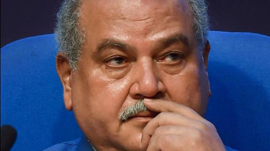Union agriculture minister Narendra Singh Tomar oversaw the signing of agreements with five companies. (PTI file)