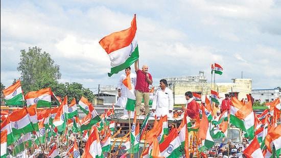 UP polls: With 'Ram Rajya' in focus, AAP holds Tiranga Yatra in Ayodhya