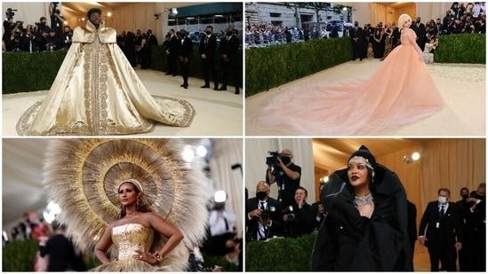 Lil Nas X (Reuters), Billie Eilish (AFP), Iman (Reuters) and Rihanna (Reuters).