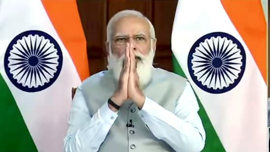 PM Modi met the council of ministers at the Rashtrapati Bhavan(ANi)