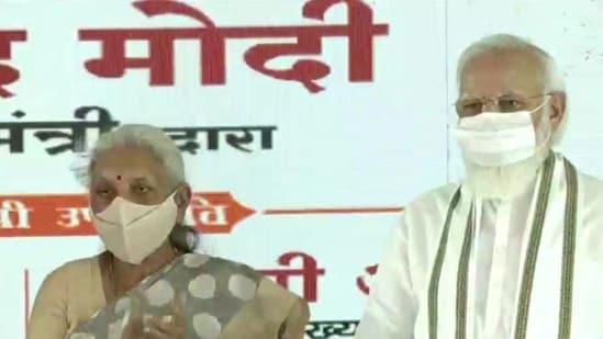 PM Narendra Modi in Aligarh (ANI)