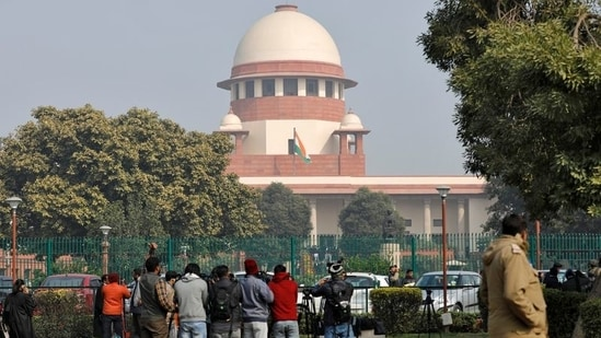 As soon as the matter commenced before the bench, which also included justices Sanjiv Khanna and BR Gavai, the court clarified that it would not entertain any request for reconsidering the previous judgments in M Nagaraj (2006) and Jarnail Singh (2018) cases.(Reuters)