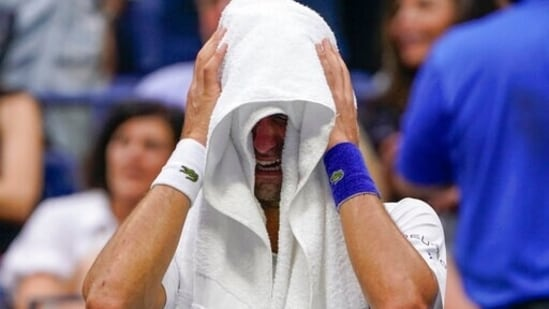 Novak Djokovic chokes in tears as Grand Slam dream dashed(AP)