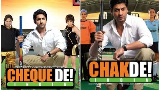 Ayushmann Khurrana spoofed Shah Rukh Khan in Cheque De India.