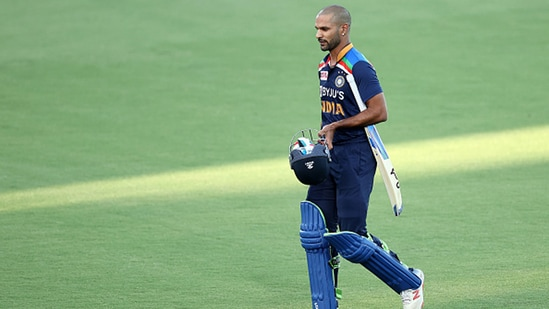 Shikhar Dhawan missed India's T20 World Cup flight.(Getty)