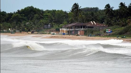Large waves hit the coast at Aguada, Goa, due to Cyclone Tauktae in May this year. (File photo)