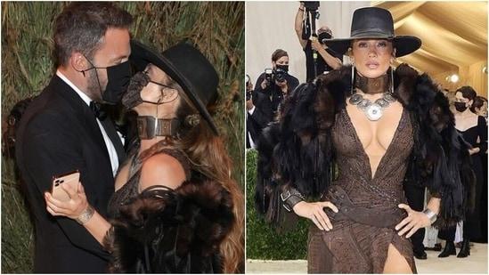 Jennifer Lopez dazzles in Ralph Lauren high-leg slit dress, cowgirl hat at Met Gala 2021(Instagram)