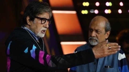 Kaun Banega Crorepati producer Siddhartha Basu with host Amitabh Bachchan.
