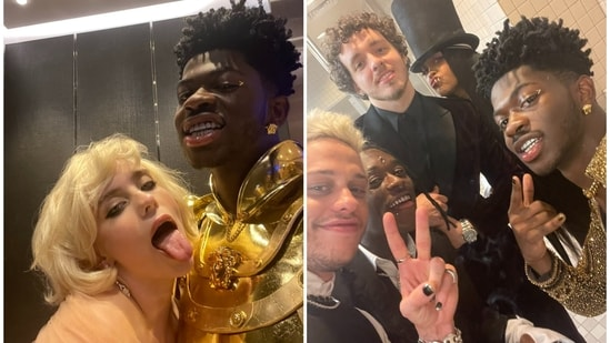 Lil Nas X shared pictures from inside the Met Gala 2021.