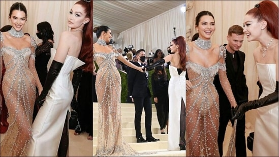 Met Gala: Gigi Hadid in sleek white Prada gown reunites with BFF Kendall Jenner on the red carpet(Instagram/_shekills/asianweddingmag)