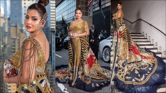 Sudha Reddy makes Met Gala debut in Falguni Shane Peacock's 'American flag' gown(Instagram/manav.manglani)