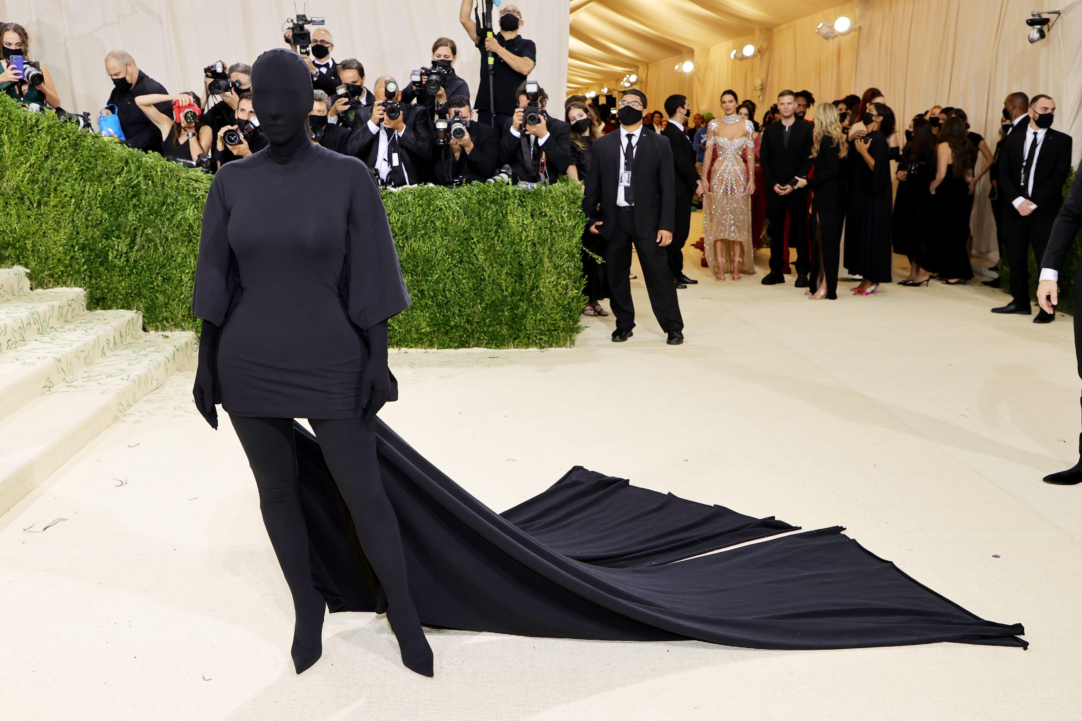 Kim Kardashian attends The 2021 Met Gala(AFP)