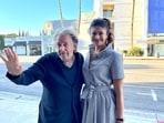 Al Pacino poses with Pooja Batra.