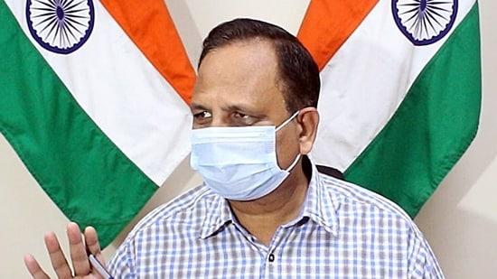 Delhi health minister Satyendar Jain.(ANI file photo)