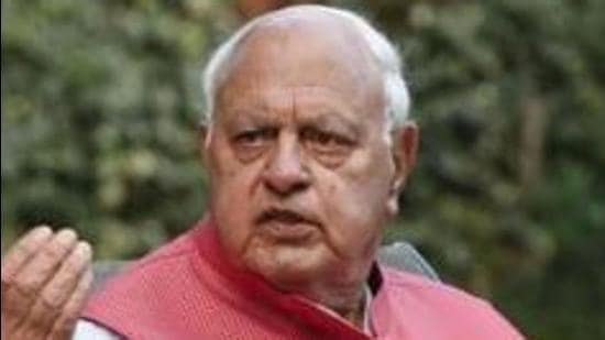 Farooq, who was accompanied by NC leaders including provincial president Devender Singh Rana, attended a special prayer meeting. (HT File Photo)