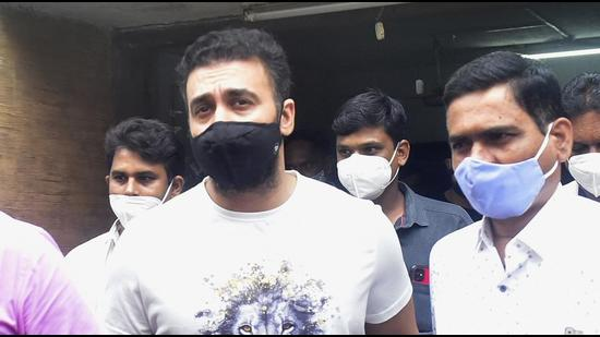 Based on the evidence recovered, the property cell arrested Raj Kundra and his IT head Thorpe on July 19. (Anshuman Poyrekar/HT PHOTO)