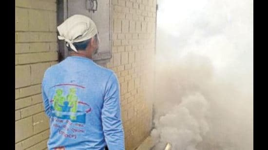 The health department has asked the Amritsar municipal cooperation to carry out regular fogging in all 85 wards of the city to check dengue cases. (HT photo)