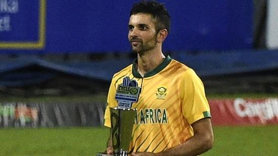 South Africa's captain Keshav Maharaj