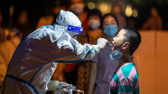 Fujian province has sped up mass testing for Covid-19 cases(VIA REUTERS)