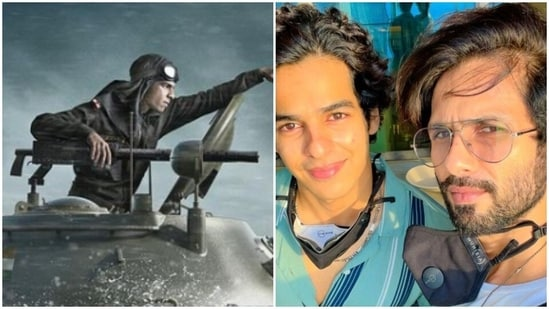 Shahid Kapoor has commented on Ishaan Khatter's Pippa first look.