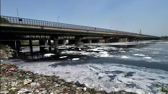 According to Delhi government, currently, the Yamuna receives 105MGD and 50MGD wastewater from Haryana and Uttar Pradesh, respectively. (PTI)
