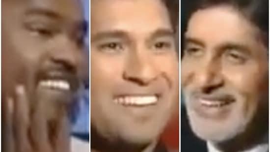 Vinod Kambli, Sachin Tendulkar and Amitabh Bachchan on Kaun Banega Crorepati.