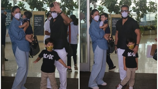 Saif Ali Khan and Kareena Kapoor seem to have taken off on a holiday with their sons, Taimur and Jehangir.(Varinder Chawla)