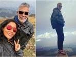 Milind Soman goes on trek more than 14k ft up from Gulmarg, practises handstands in new posts(Instagram/@milindrunning)