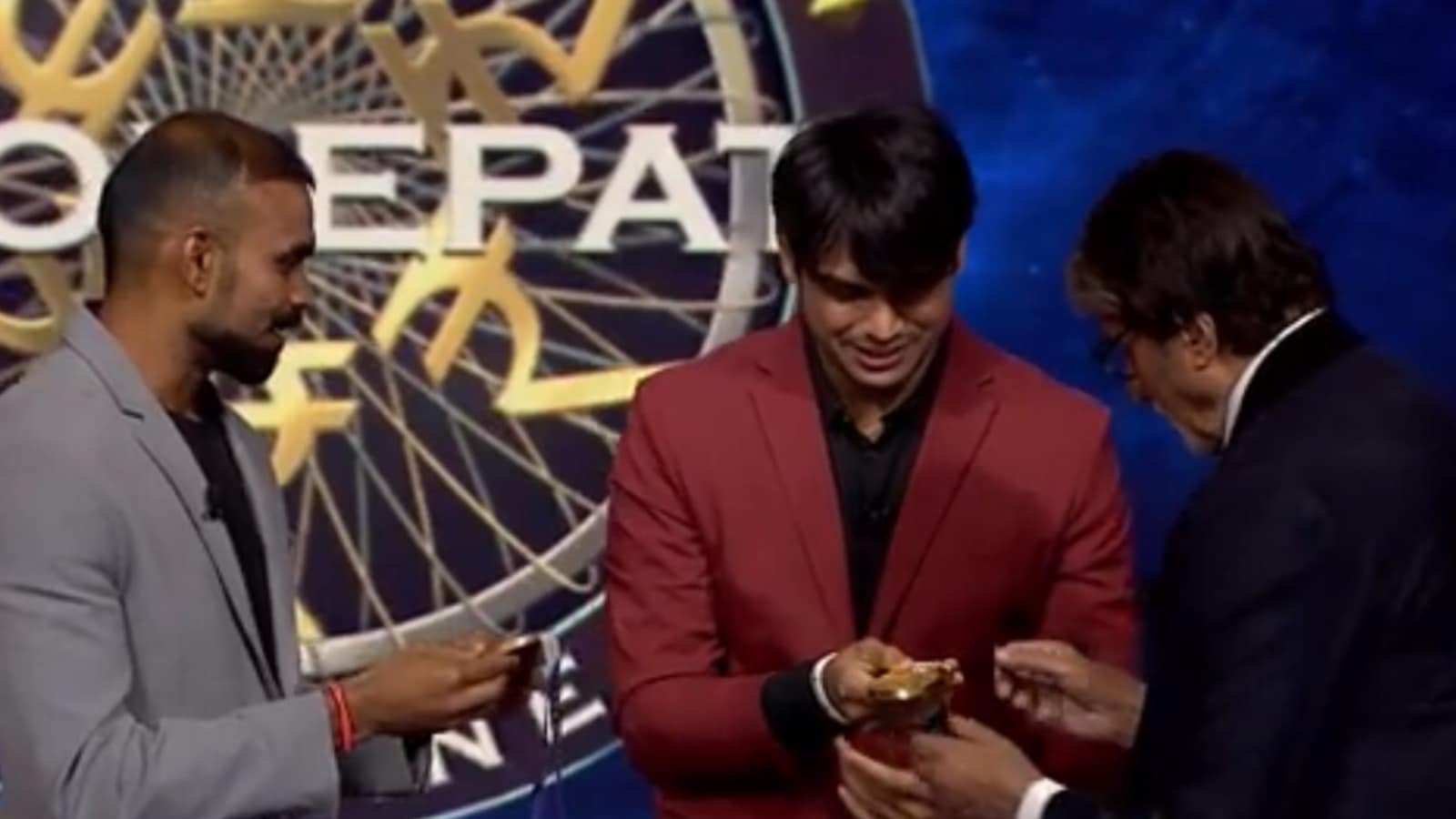 KBC 13: Amitabh Bachchan asks Neeraj Chopra, PR Sreejesh if he can contact their Olympic medals, says 'I will not put on it'