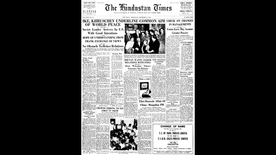 A screengrab of the Hindustan Times on September 17, 1959