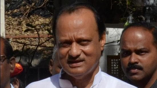 Maharashtra deputy chief minister Ajit Pawar said an amicable solution will be sought in the controversy of naming Navi Mumbai Airport. (HT FILE)