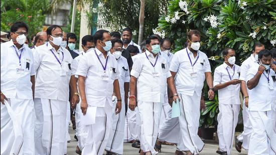The AIADMK has already formed an internal legal committee to help party leaders fight cases registered against them by the DMK government. (PTI)