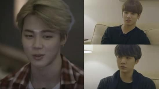 BTS members Jimin, Jungkook and Suga from an episode of Burn The Stage.