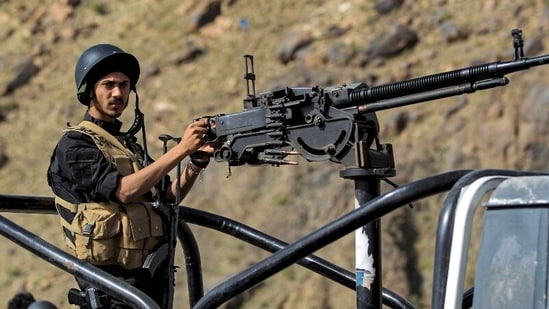 File image of security forces loyal to Yemen's Huthi rebels.(AFP)