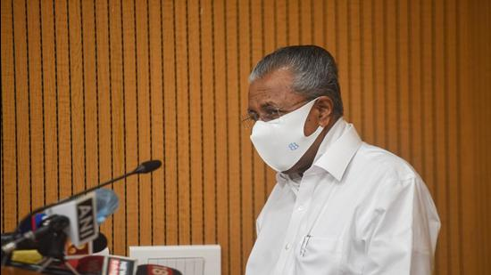 Kerala chief minister Pinarayi Vijayan says strict action will be taken against those who try to disrupt the secular fabric of the state. (HT Photo)