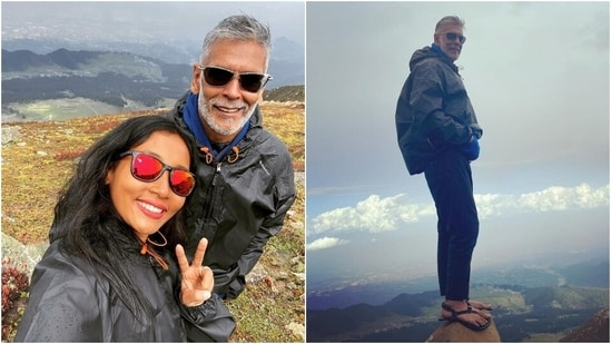 Milind Soman goes on trek more than 14k ft up from Gulmarg, practises handstands in new posts
