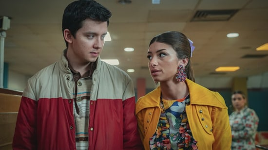 Sex Education season 3 review: Asa Butterfield and Mimi Keena in a still from the Netflix show.