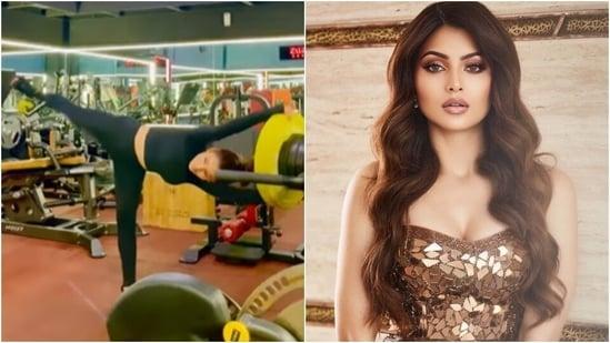 Urvashi Rautela's hip mobility with trunk twists exercise raises workout motivation bar