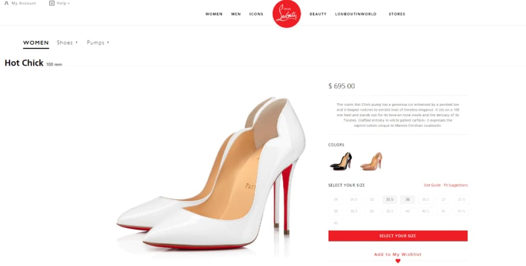The Hot Chick pumps Nora Fatehi wore with her dress.(christianlouboutin.com)
