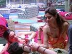 Shamita Shetty, Raqesh Bapat and Divya Agarwal on Bigg Boss OTT.