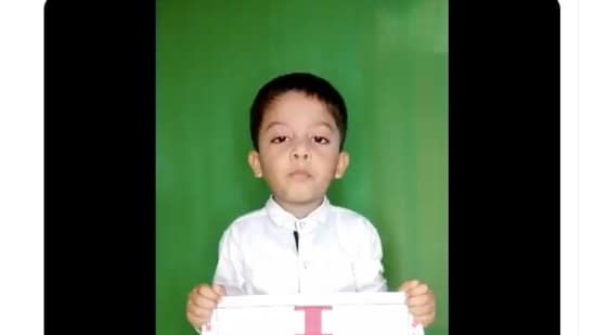 The four-year-old boy posted a video on Twitter to seek justice.(Rizwan Sahid Laskar/Twitter)