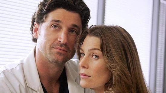 Ellen Pompeo and Patrick Dempsey in a still from Grey's Anatomy. (ABC)