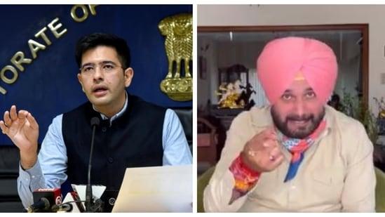 Raghav Chadha said Punjab Congress chief Navjot Singh Sidhu is Rakhi Sawant of Punjab politics after Sidhu criticised Kejriwal.