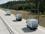 Representational Image of an electric highway; Germany had launched its first electric highway two years ago, that lets its highway trucks recharge on the motorway while driving.(Siemens)
