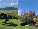 Ankita Konwar's one-hand Chakrasana, side-stretch in Kashmir is fitness goals(Instagram/ankita_earthy)