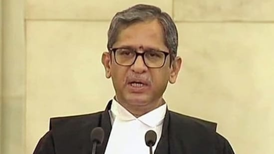 CJI NV Ramana said it's imperative to simplify the justice delivery system and make it more accessible and effective.(ANI Photo)