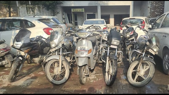 The accused was held while riding a stolen bike in Ludhiana. (HT Photo)