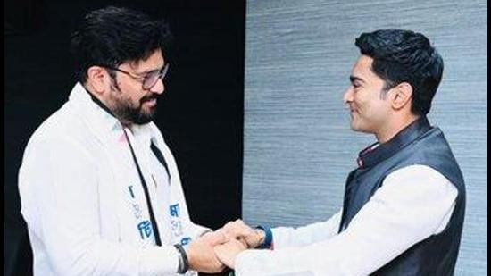 Former Union minister Babul Supriyo joined the Trinamool Congress on Saturday in Kolkata. (TWITTER/@AITCofficial.)