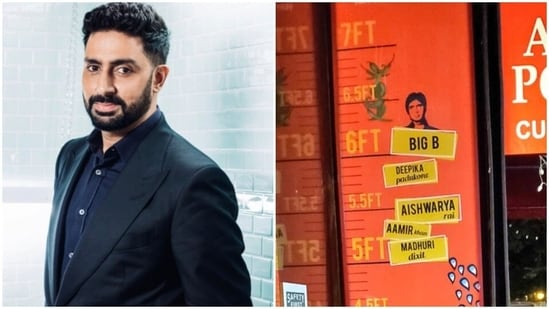Abhishek Bachchan shared his correct height with a fan.