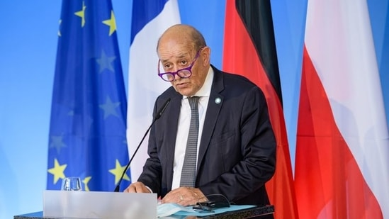 """French foreign minister Jean-Yves Le Drian described the withdrawal of the ambassadors as a """"very symbolic"""" act which aimed """"to show how unhappy we are and that there is a serious crisis between us and to re-evaluate out positions to defend our interests.""""(File Photo / REUTERS)"""